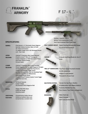 Franklin Armory F17-L - 17WSM Specifications