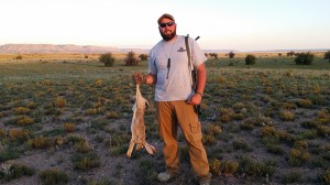 Will with his first Jackrabbit taken with an AR15 in .223