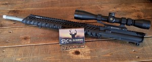 The .25-45 Sharps AR15 upper we received from SRC.
