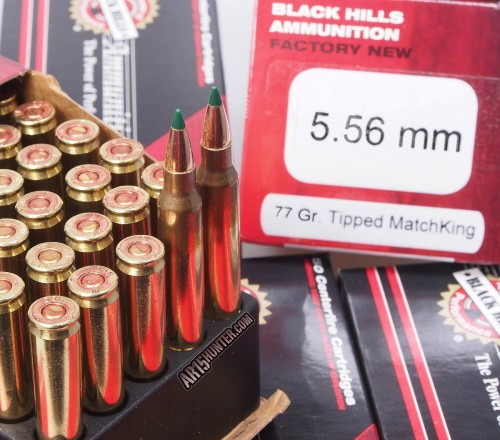 Black Hills' new 5.56mm 77gr TMK (Tipped MatchKing) rounds.