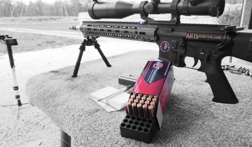 At the range testing the new 77gr TMK.