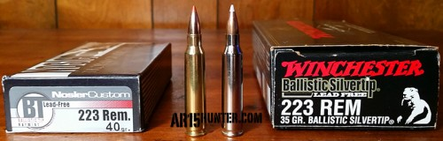 Nosler Ballistic Tip and Winchester Ballistic Silvertip Lead Free Ammo