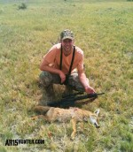 Coyote taken with the 90 grain Gold Dot ammo