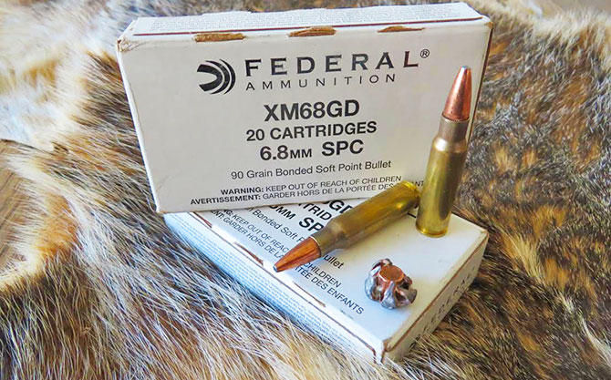 Hunt Report – FEDERAL 6.8SPC 90gr GOLD DOT Ammo