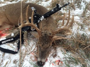 A Nice Nebraska Buck Taken by the Author's Friend and the Friend's AR-10!