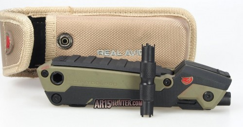 The Real Avid Gun Tool Pro - AR15 with the included front sight tool