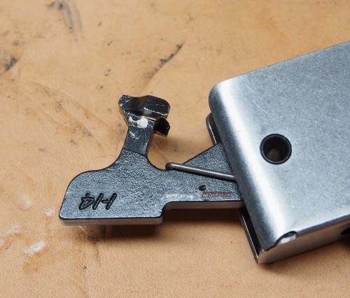 The CMC's unique hammer, side profile.
