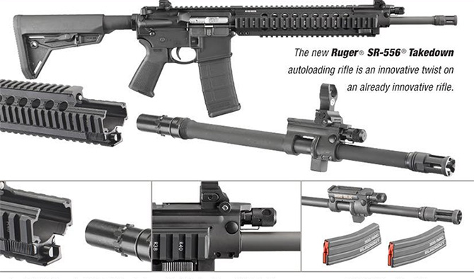 The New Ruger SR-556 Takedown AR15 Rifle