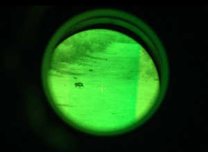 Practice Range at Night Through Night Vision