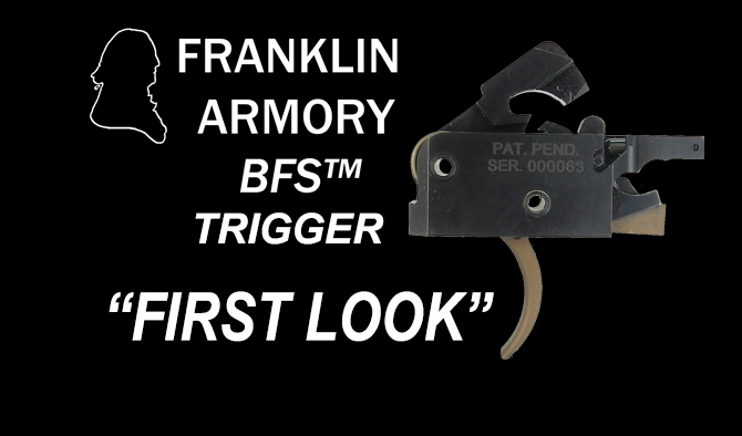 New Franklin Armory BFS Trigger – Binary Firing System First Look
