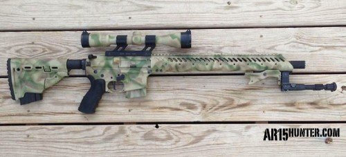 The AR15 Chambered in 6.8 SPC that the Author Used to Shoot his Buck