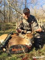The Author with his Giant Nebraska Whitetail Buck!