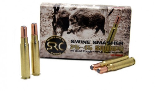 New 25-45 Sharps Swine Smasher 100 Grain Ammo is Now Available