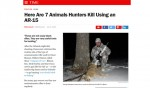 AR15 Hunter Sets the Record Straight with Time Magazine About Hunting with the AR15 Platform