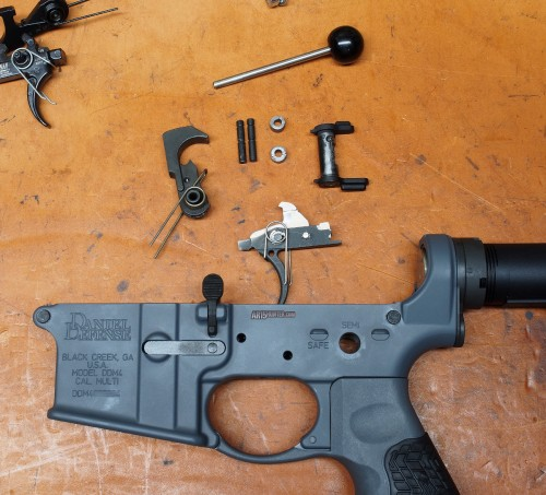 Here you can see the Gen 3 BFS ready for install in Will's Daniel Defense DDM4 V11 lower.