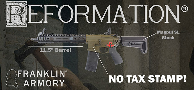Franklin Armory Announces Their New Reformation Line of NRS Firearms