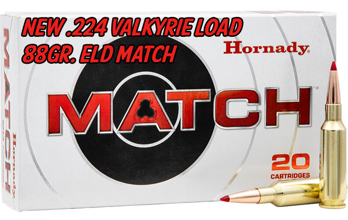 Hornady Adds the 224 Valkyrie with the New 88 Grain ELD Match Bullet